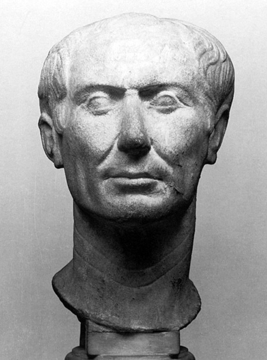 """Probably the sole such item to actually date from Julius Caesar's lifetime"""". Released into the public domain. See: http://en.wikipedia.org/wiki/File:CaesarTusculum.jpg"""