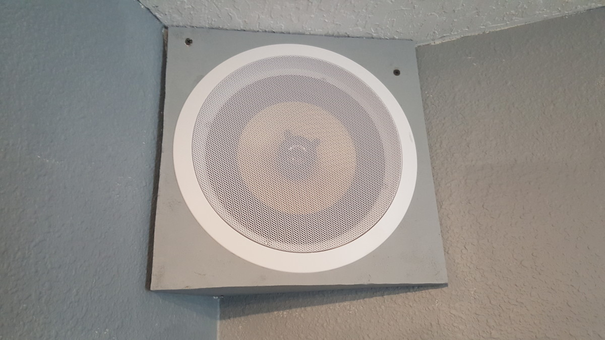 A picture of the face of the back speaker enclosure