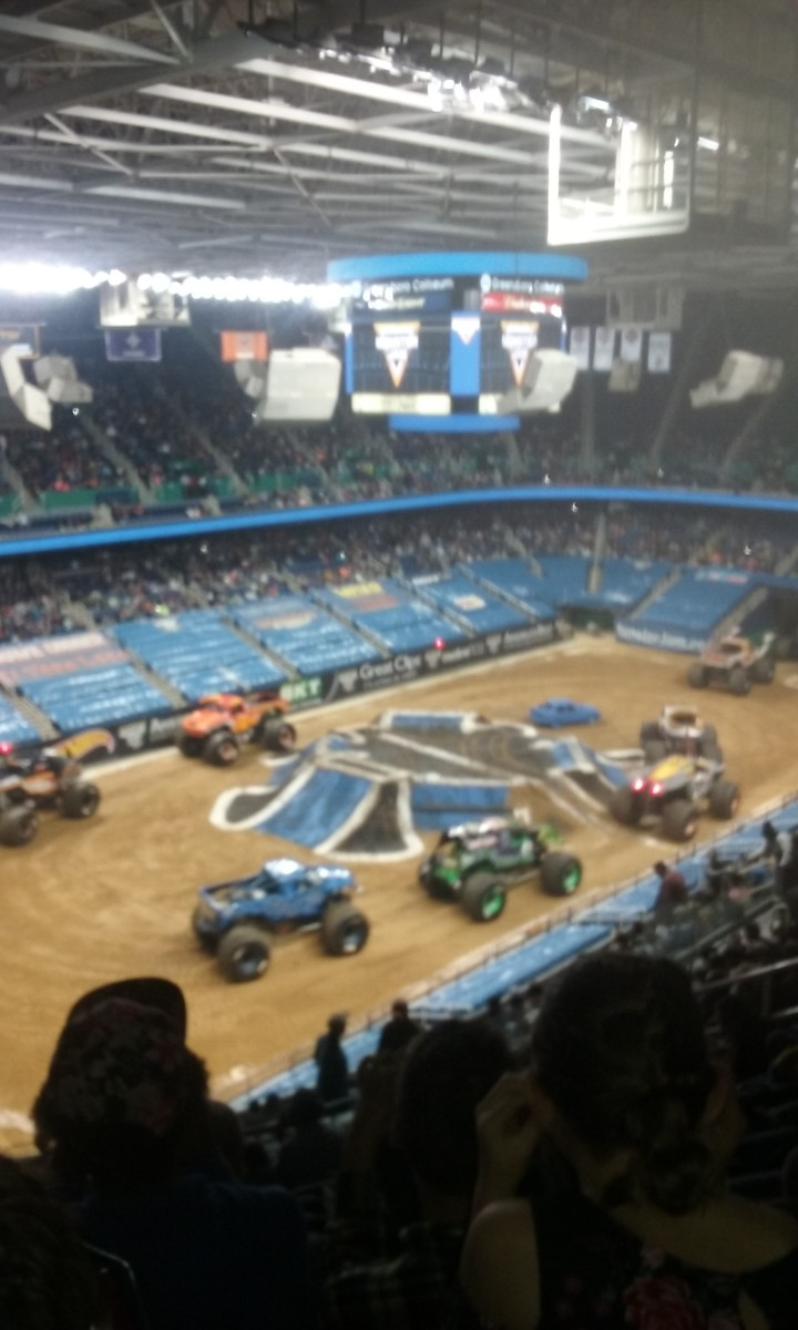 the trucks at monster jam monster truck show
