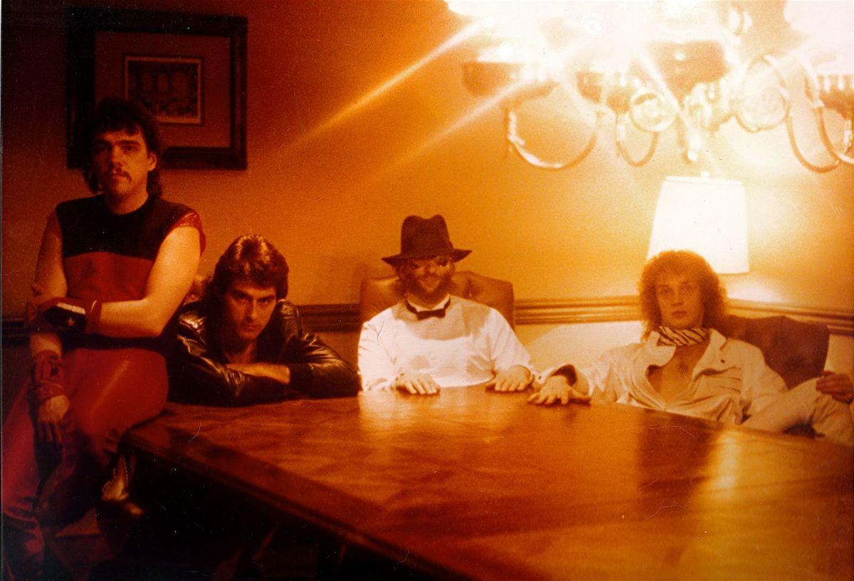 WHITE SUMMER IV album cover photo (1985 in Detroit)): Ollie Harman, Jim Watkins, Jimmy Schrader, Jeff Aldrich
