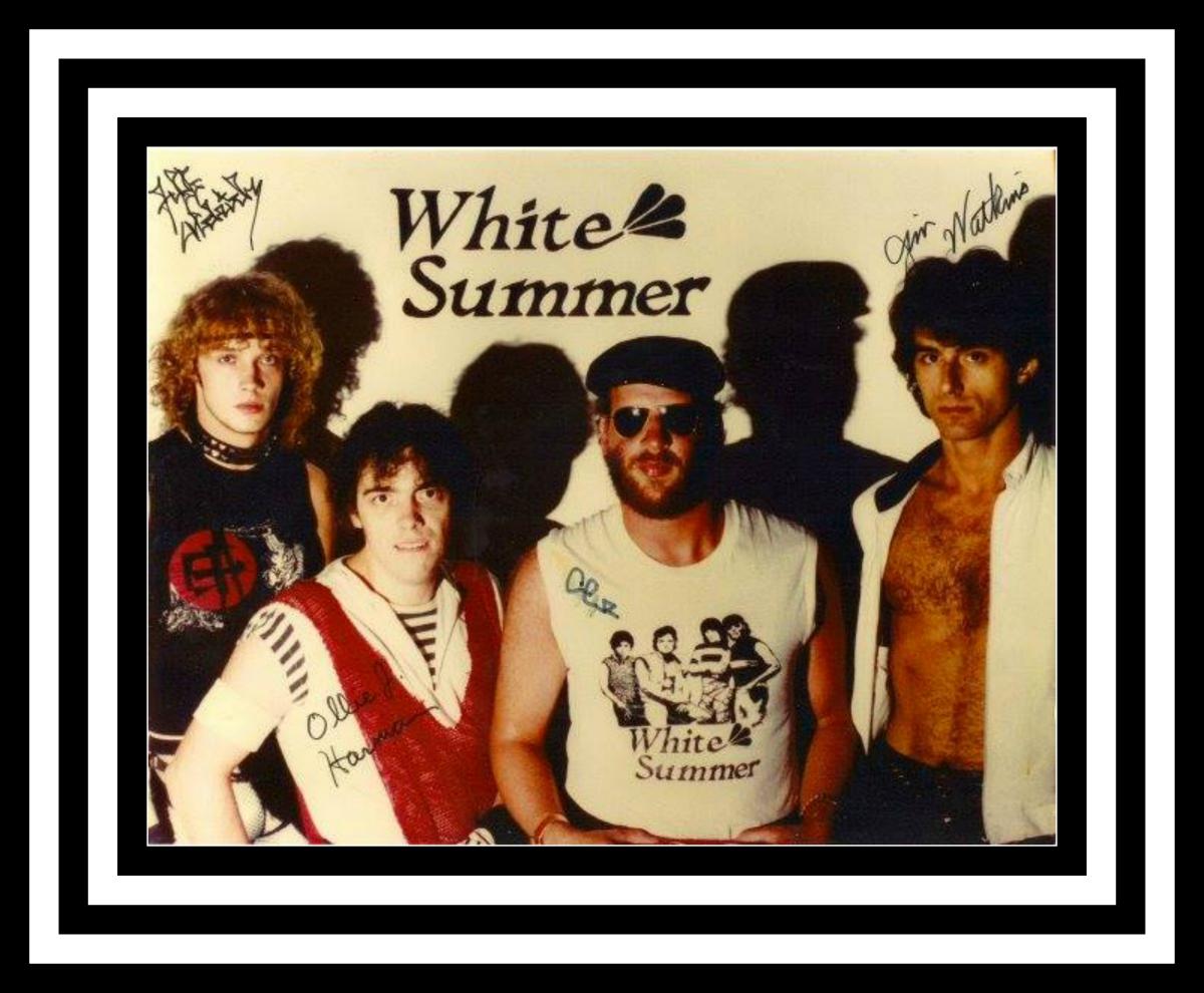 White Summer (1984 in Millburg, Michigan): Jeff Aldrich, Ollie Harman, Jimmy Schrader, Jim Watkins