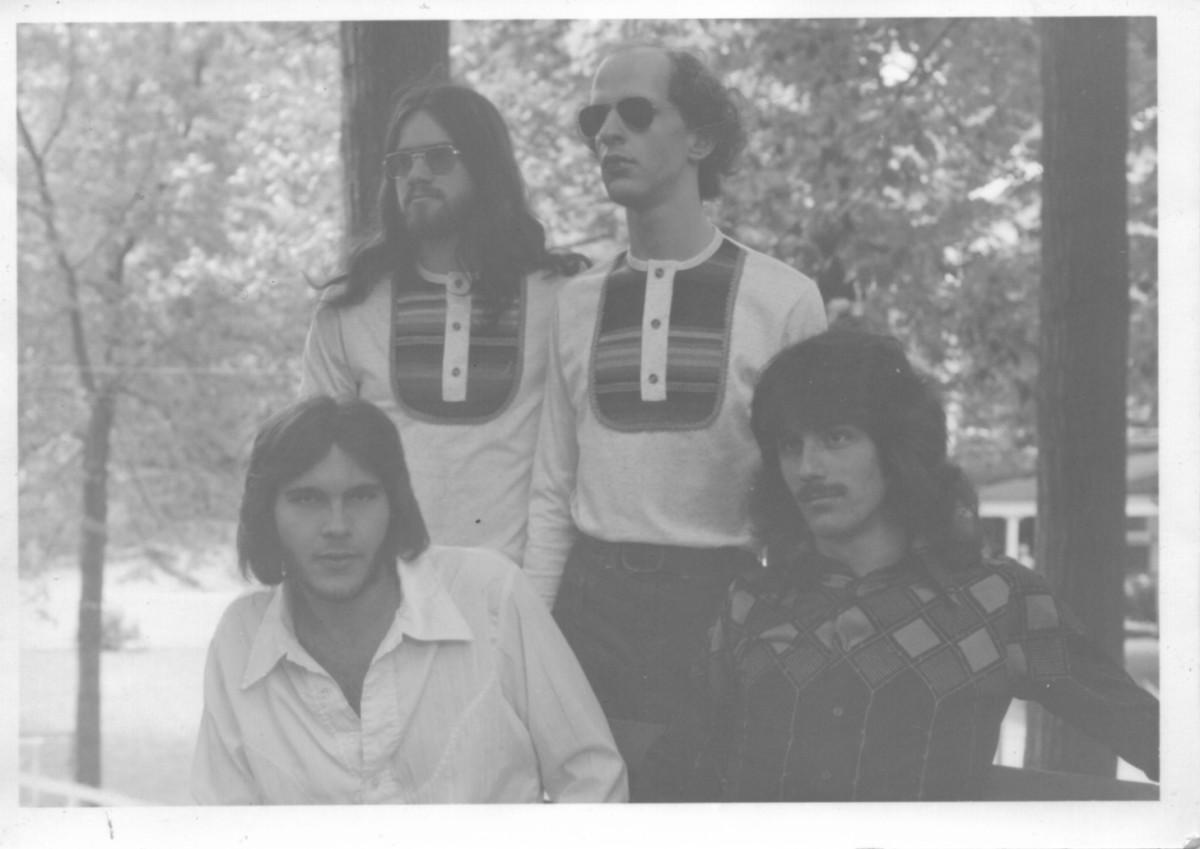 The White Summer band in 1977: David Wheeler, Jimmy Schrader, Rick Lowe, Jim Watkins