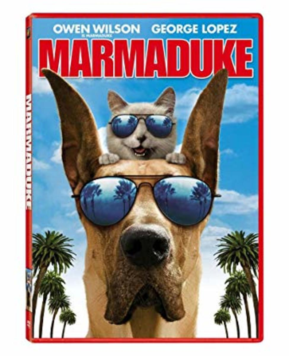 Marmaduke and Carlos are played by actors Owen Wilson and George Lopez.