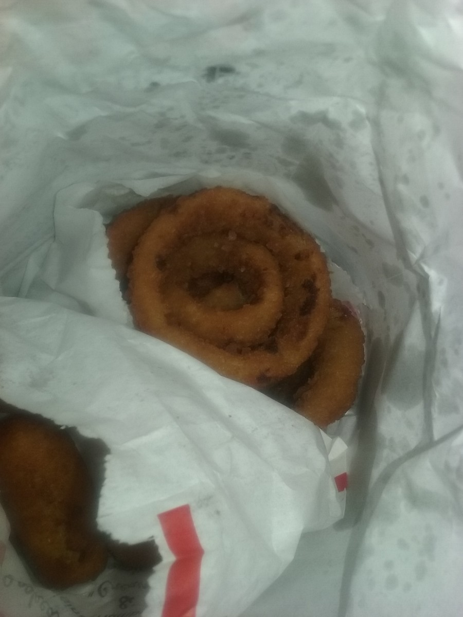 onion rings from Cook Out Fast Food Restaurant