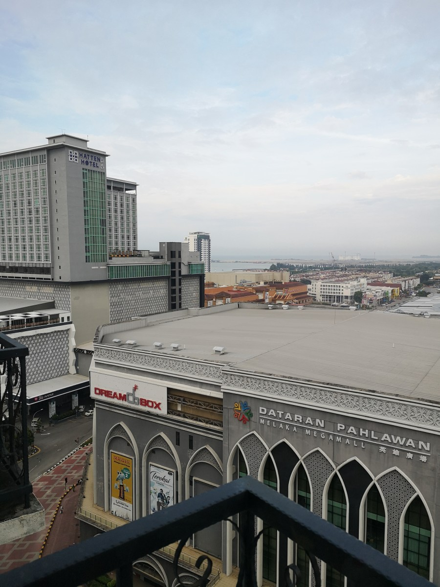 View from our room at Imperial Heritage Hotel -    Hatten Hotel and Melaka Mega Mall