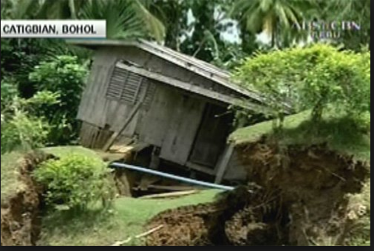 A 7.2 magnitude earthquake led to some 100 sinkholes in Bohol.