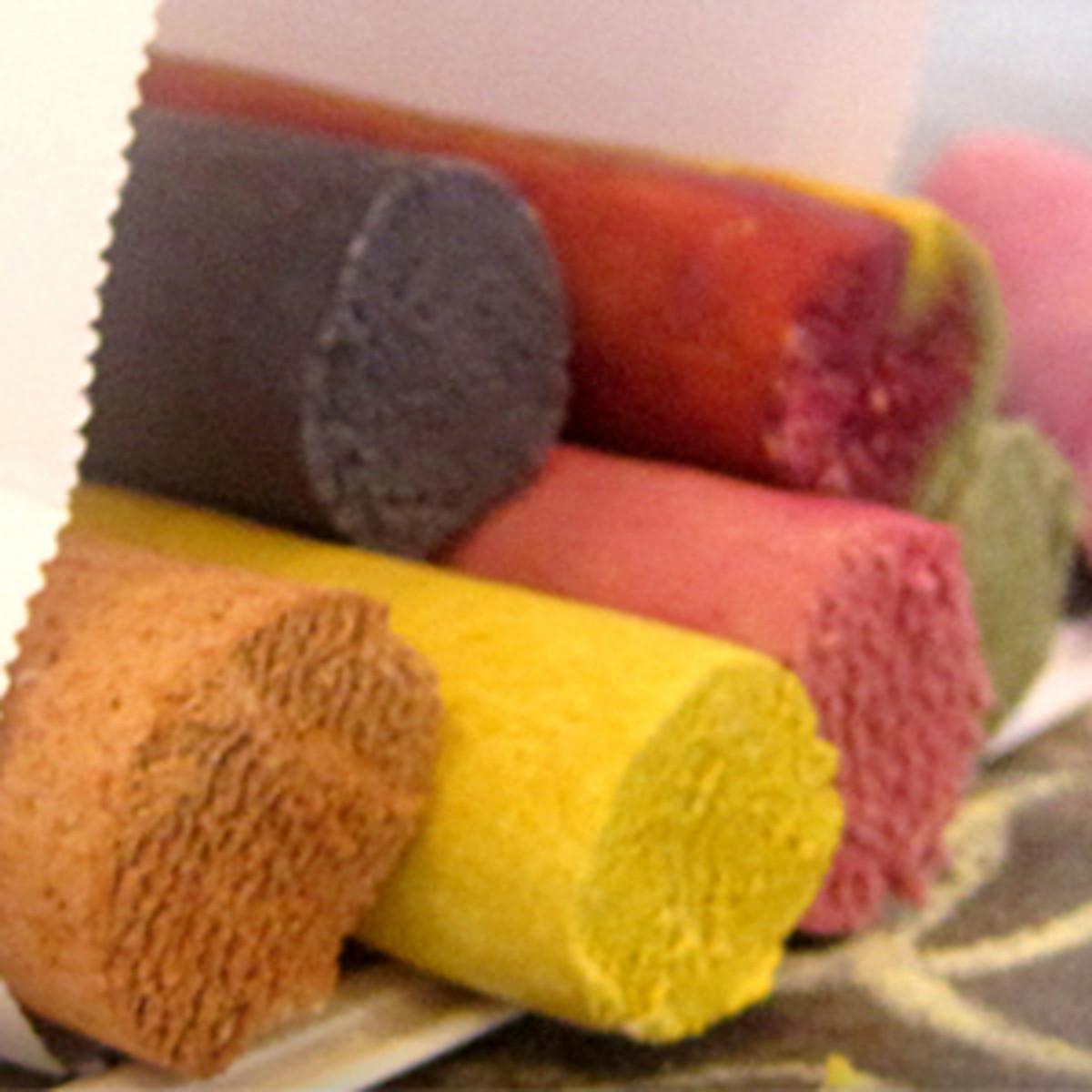 Organic, edible chalk