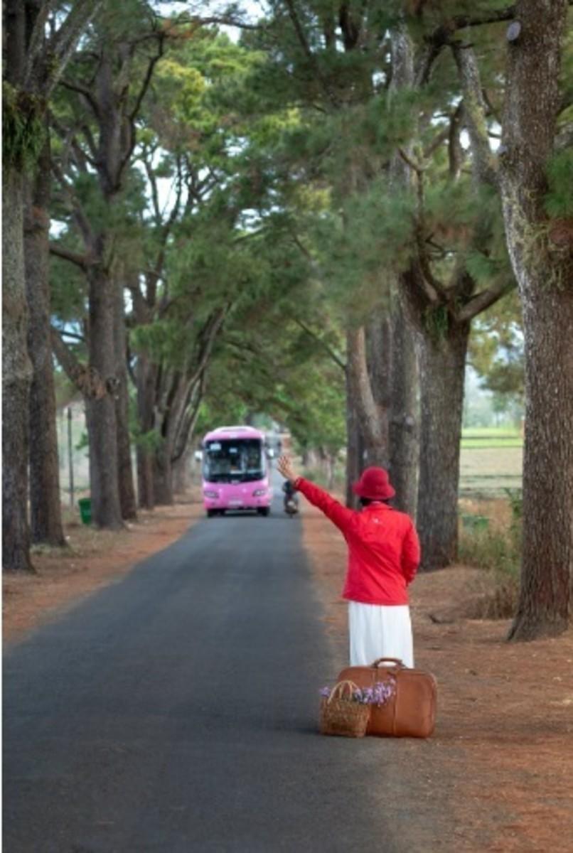 Women Catching The Bus