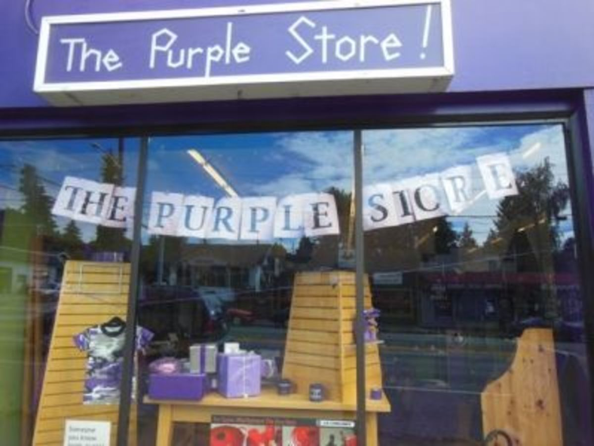 Yes, Purple Fans... There Really IS A Purple Store!