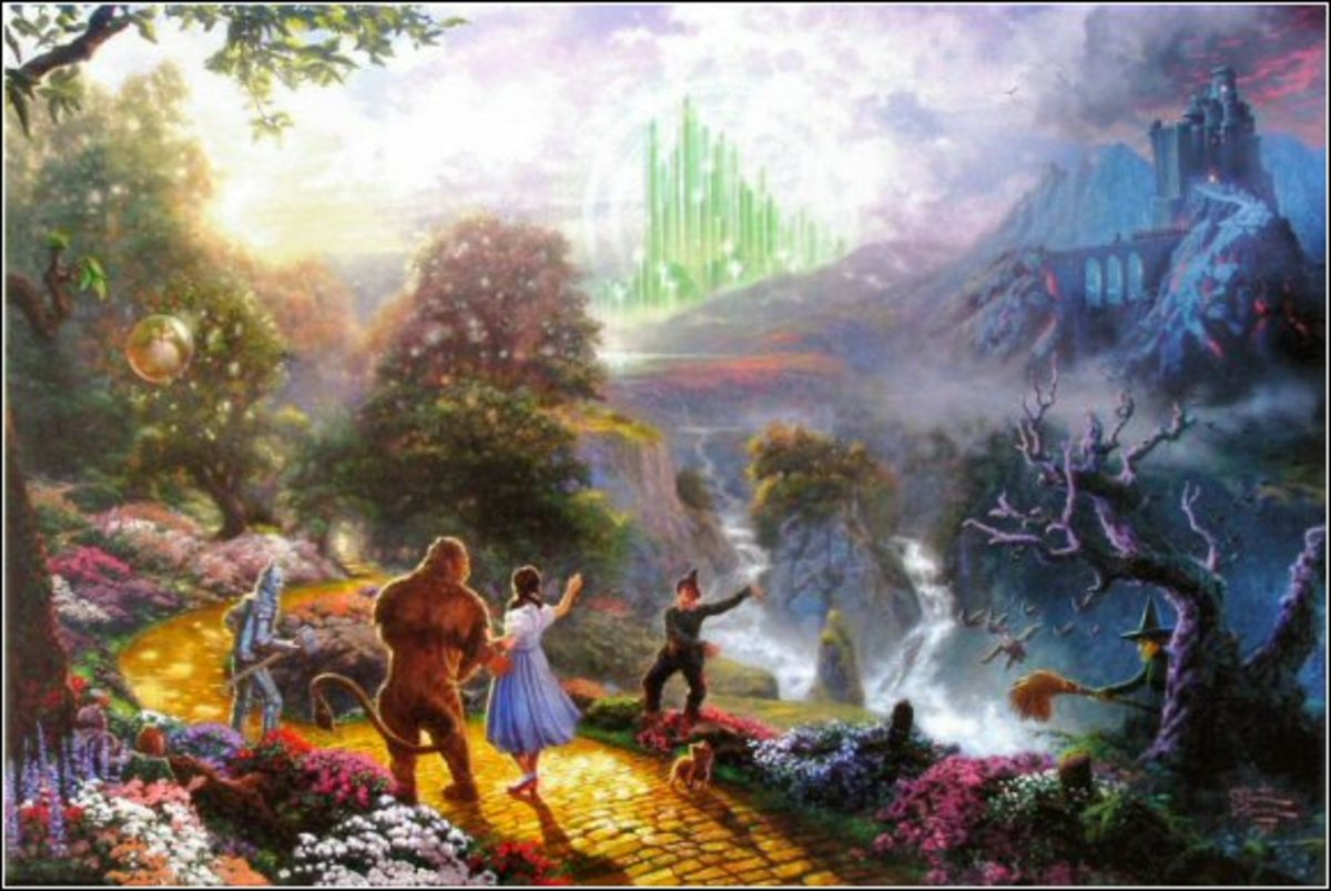 Dorothy Discovers the Emerald City By Thomas Kinkade