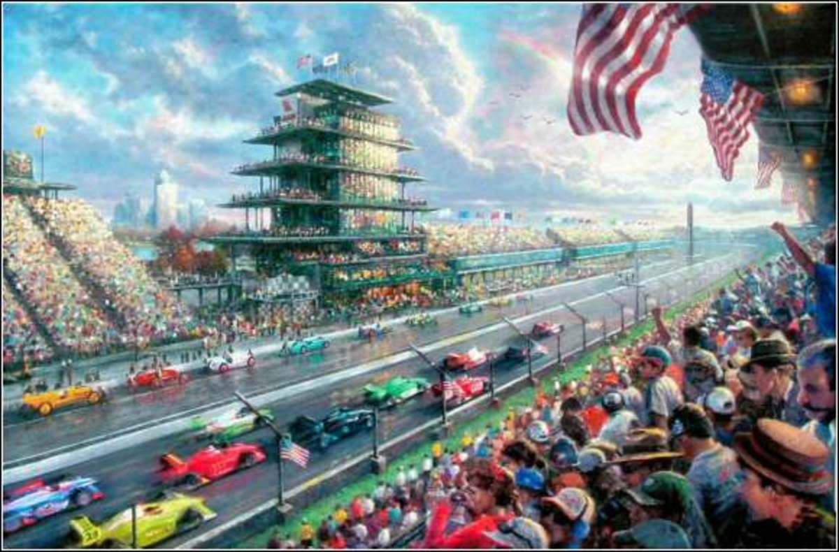 Indy Excitement by Thomas Kinkade