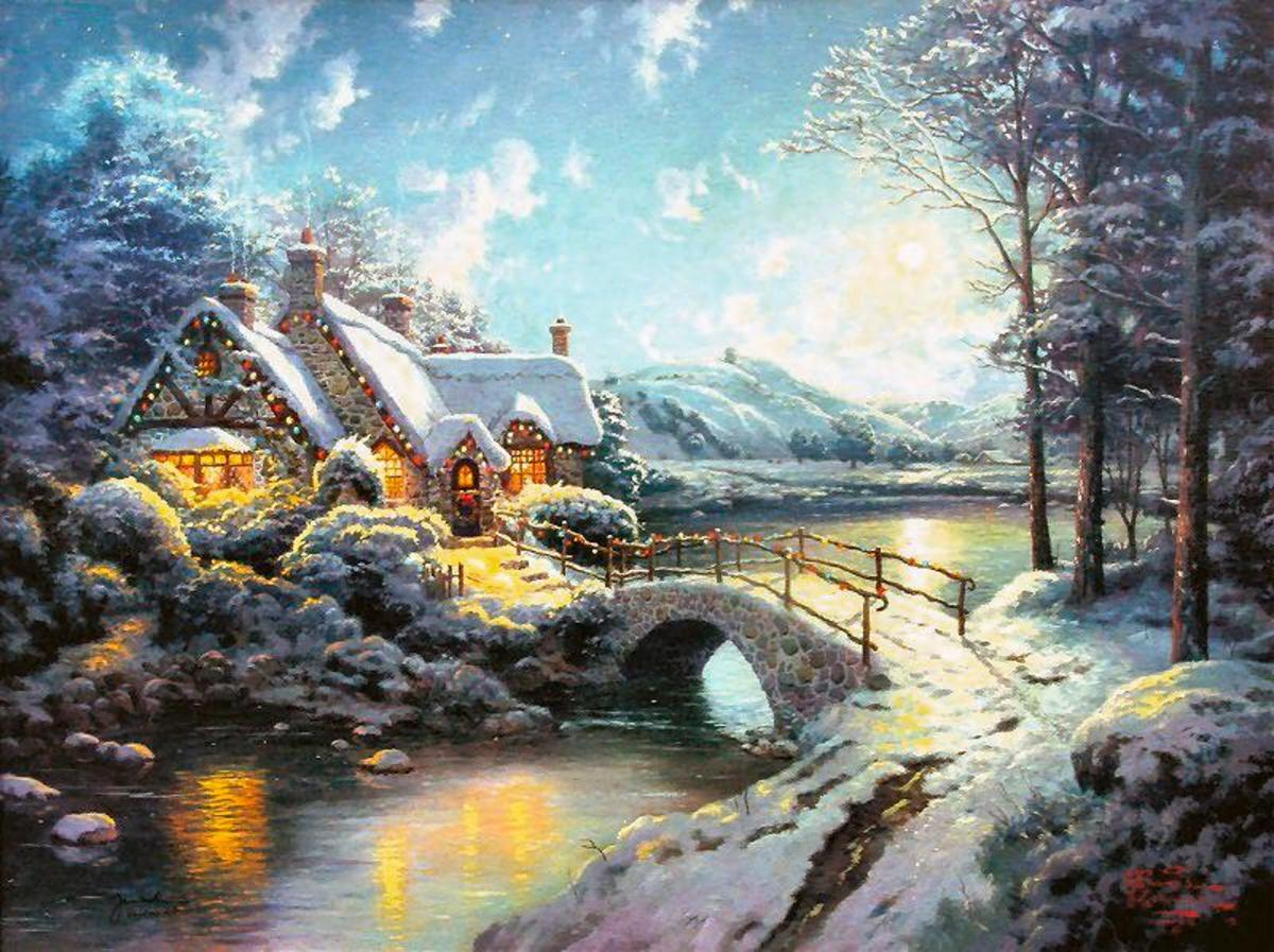 Christmas Moonlight by Thomas Kinkade