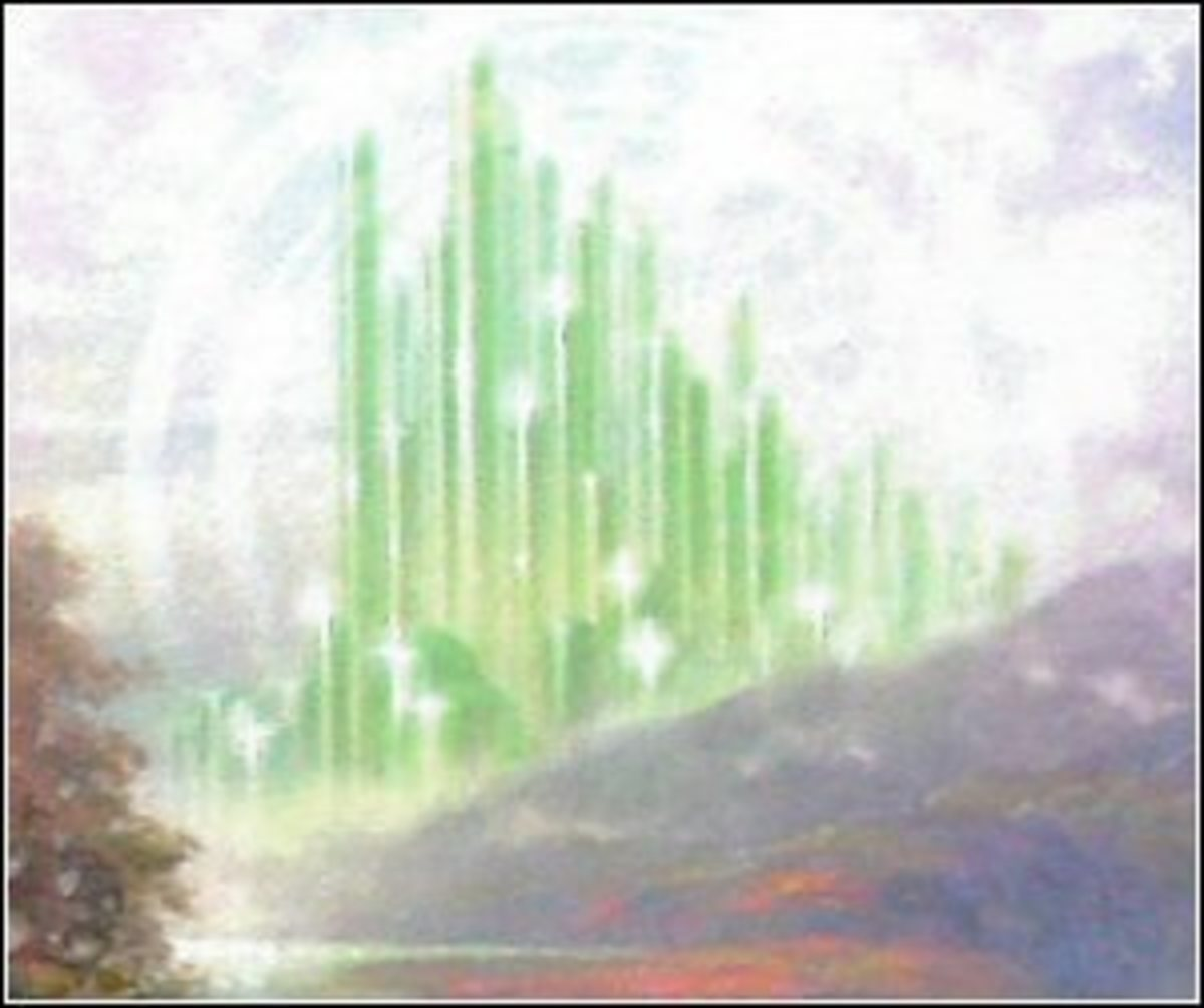 Detail on Dorothy Discovers the Emerald City by Thomas Kinkade