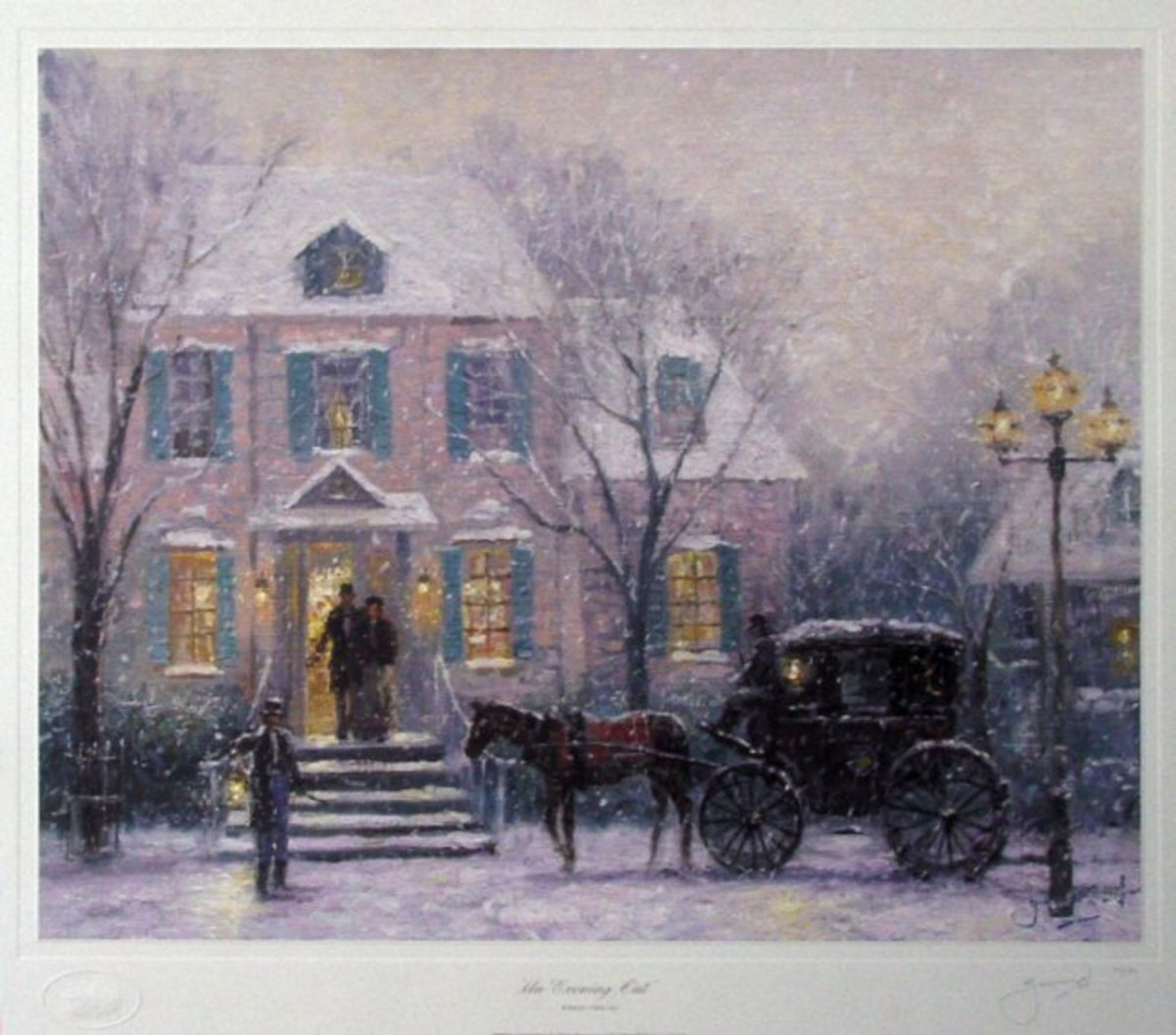 An Evening Out by Robert Girrard (Thomas Kinkade)