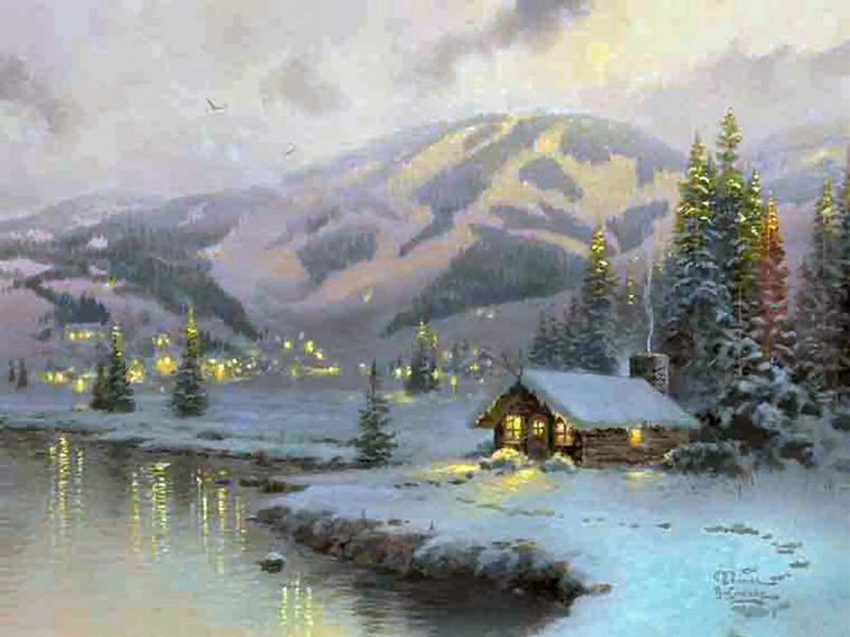 Olympic Mountain Evening by Thomas Kinkade