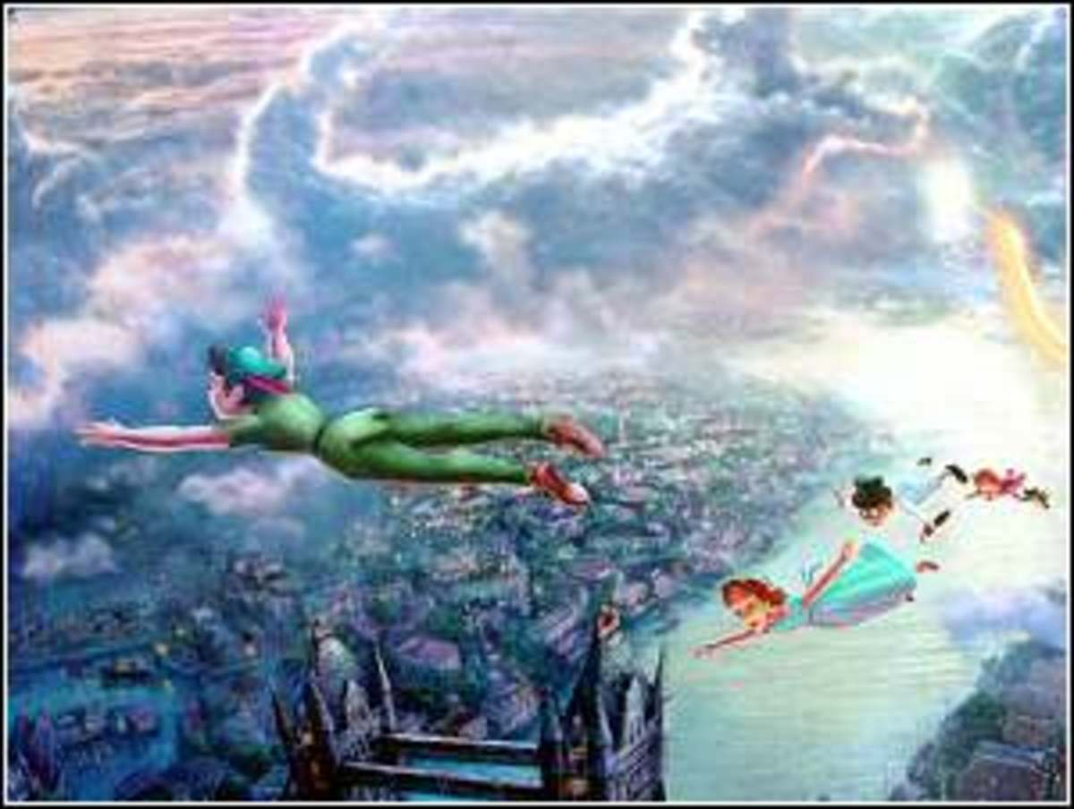 Tinker Bell and Peter Pan Fly to Neverland Detail