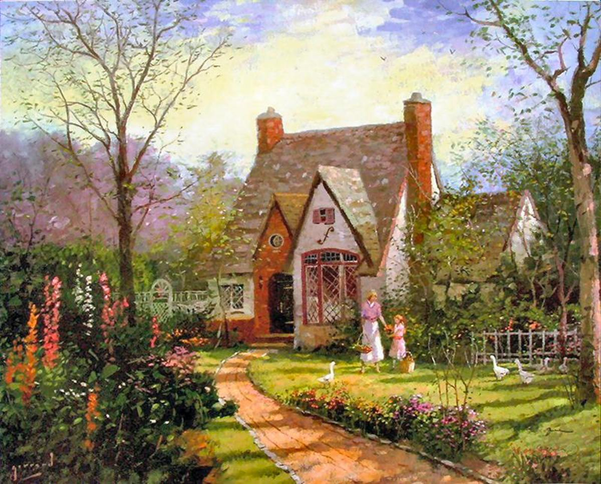 The Cottage by Robert Girrard (Thomas Kinkade)