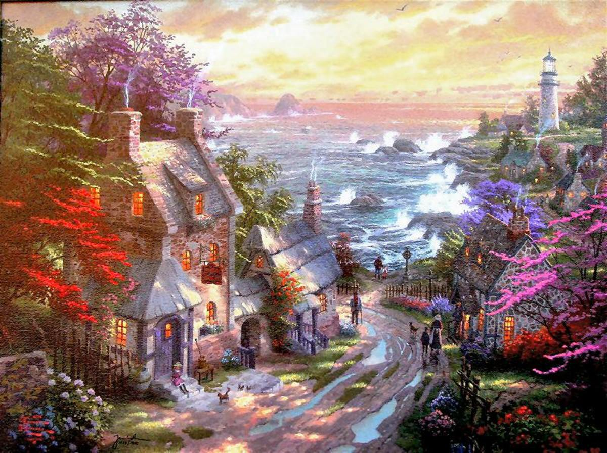 The Village Lighthouse by Thomas Kinkade