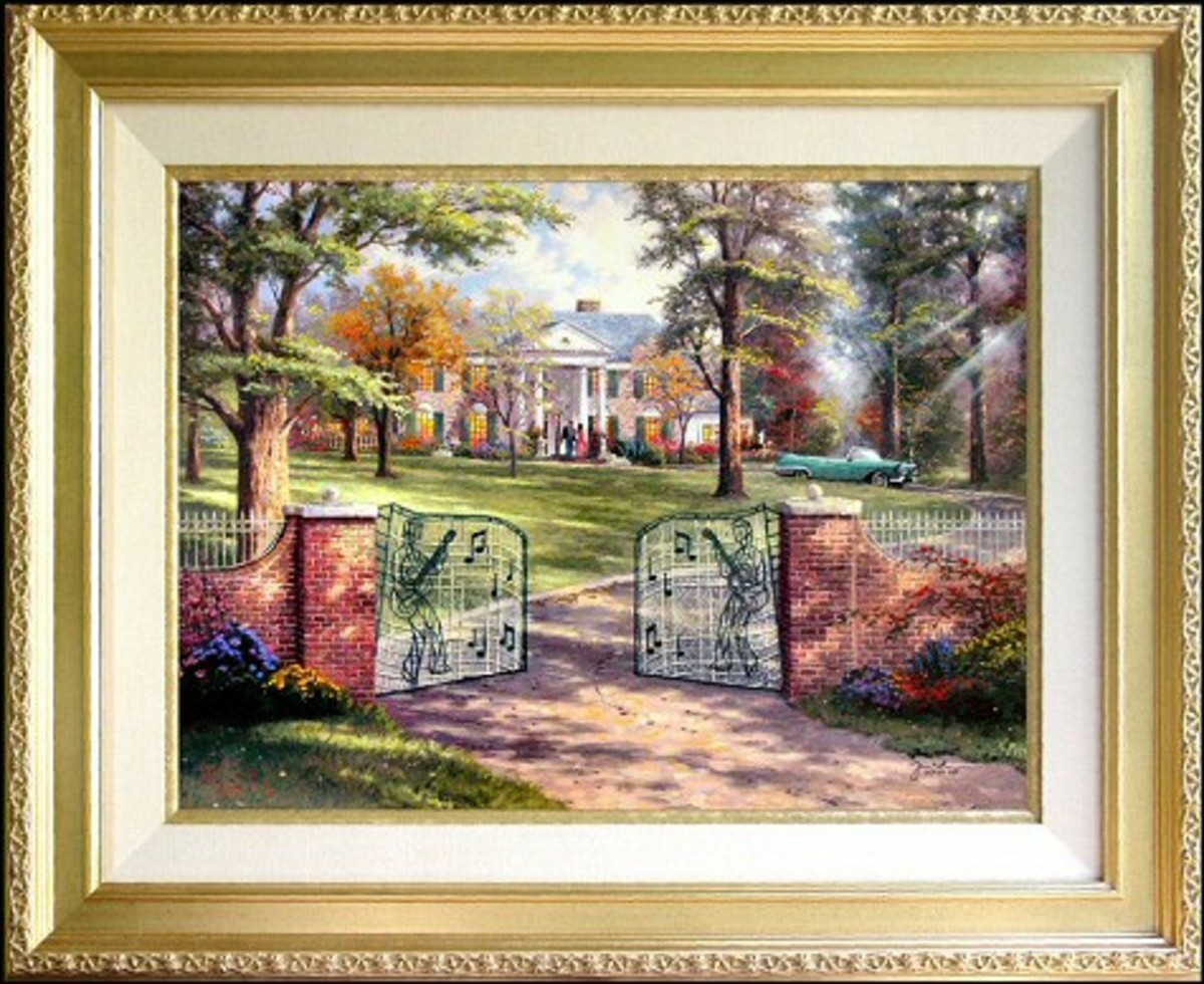 Graceland, 50th Anniversary by thomas Kinkade