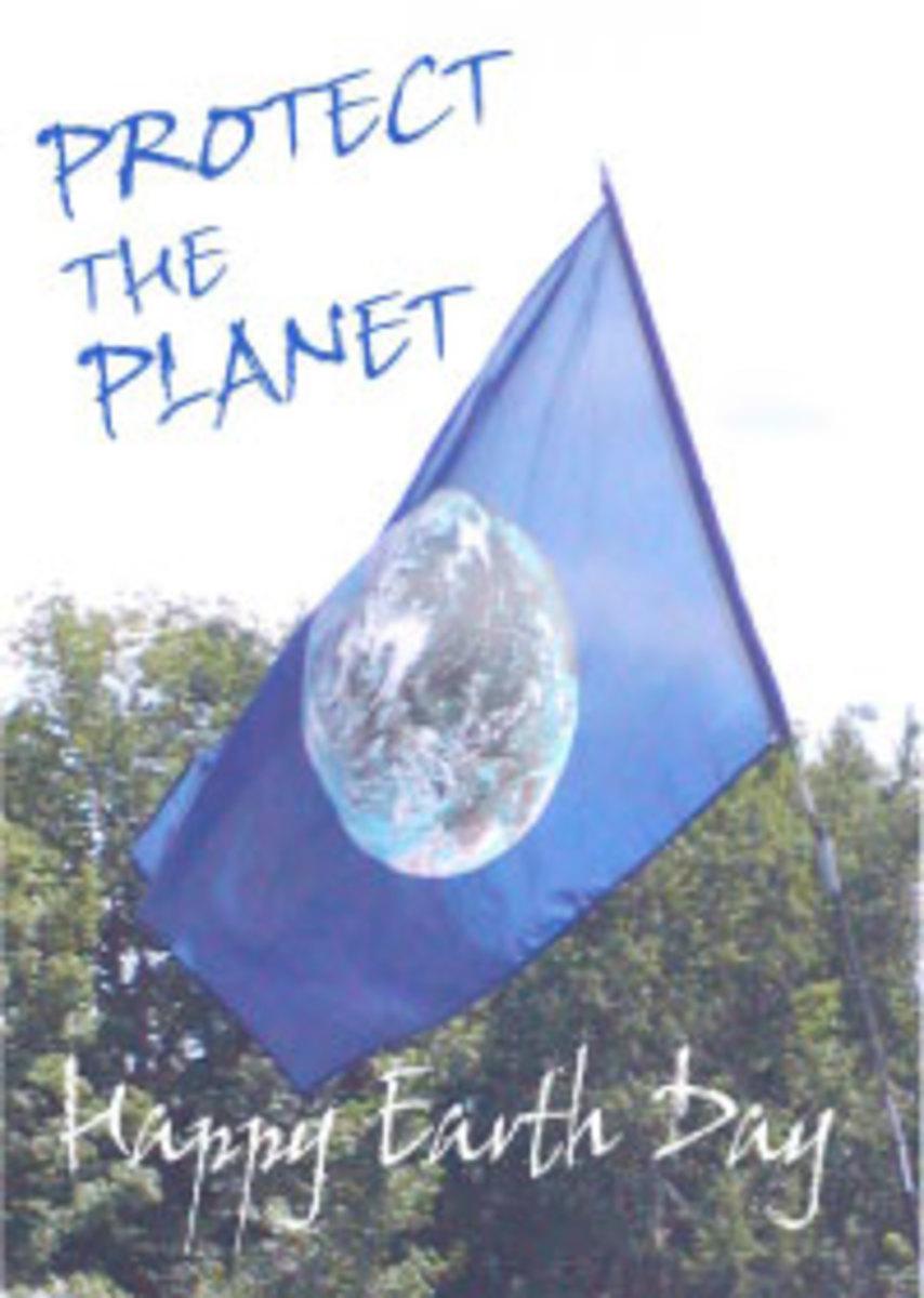 Earth Day Flag Card