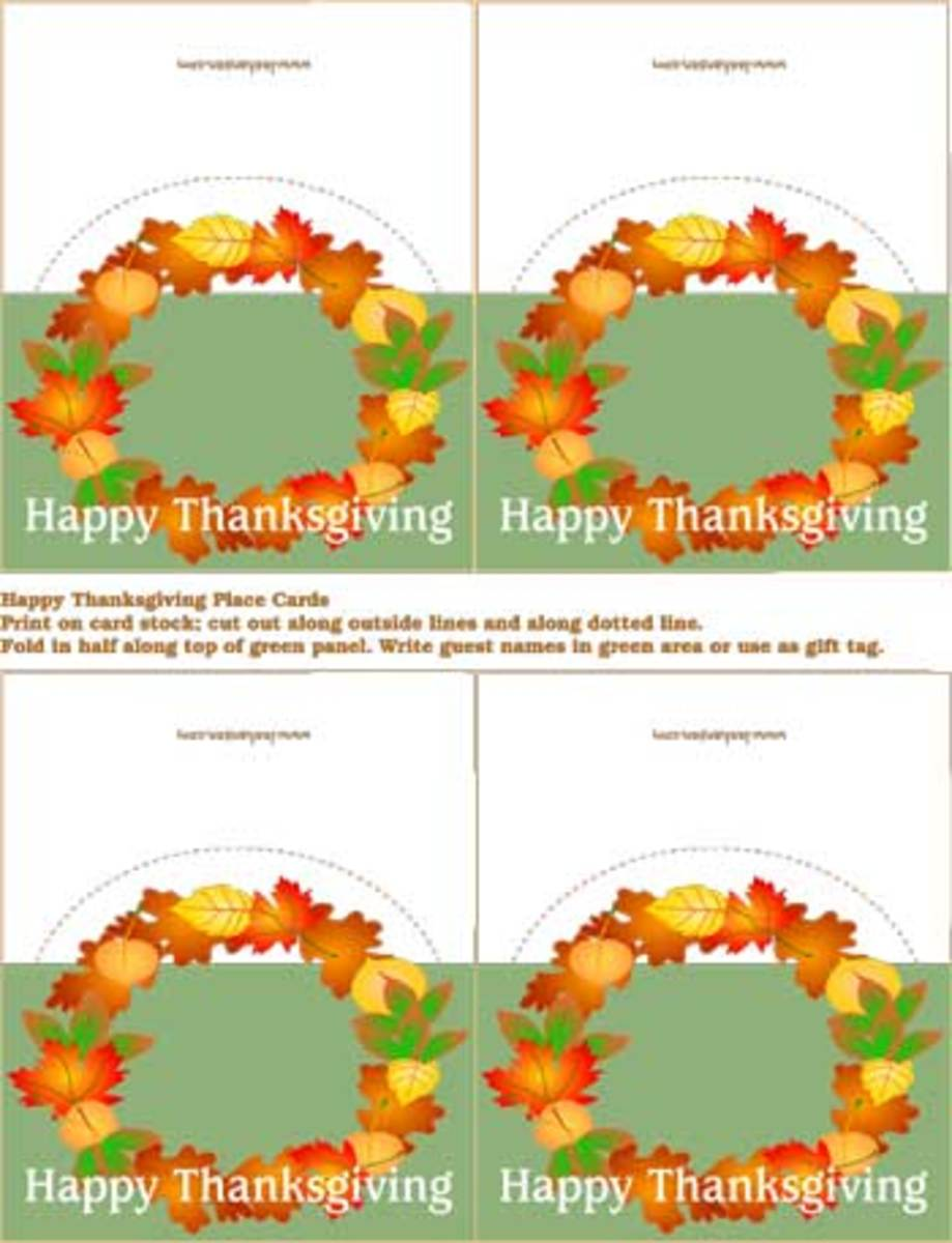 Harvest leaves wreath small thankgiving cards