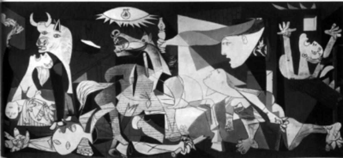 Pablo Picasso: Guernica,  1937, oil on canvas, 349 Ã 776 cm