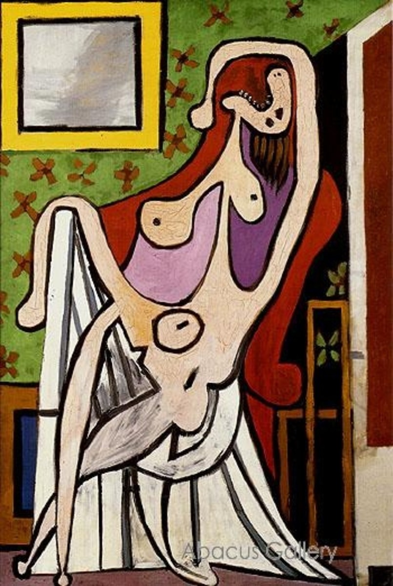 Large Nude in Red Armchair 1928 by Pablo Picasso -