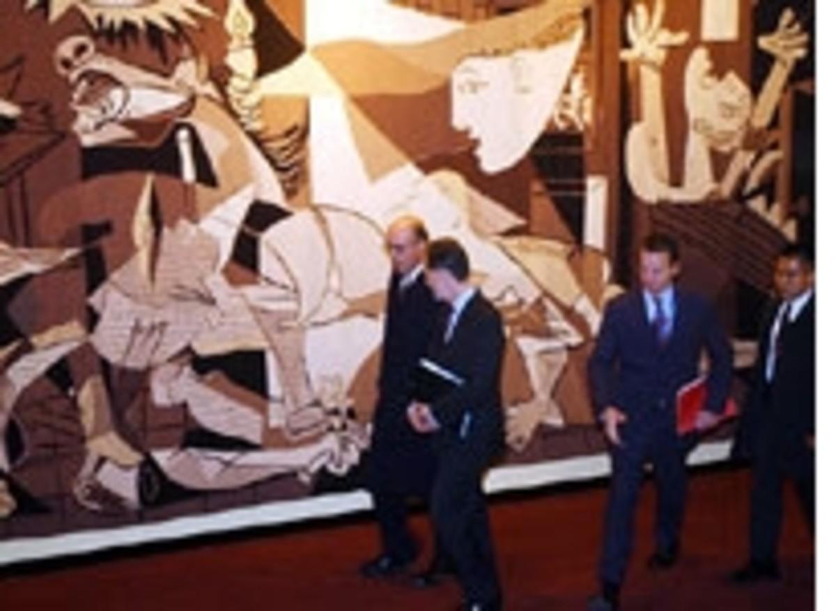 Pablo Picasso's Guernica... controversy