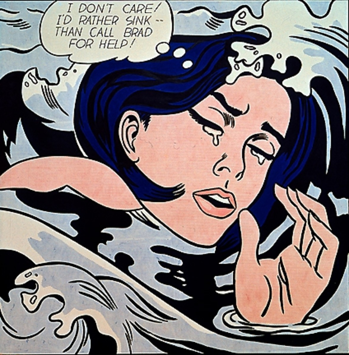 """""""Drownng Girl"""" by Roy Lichtenstein"""