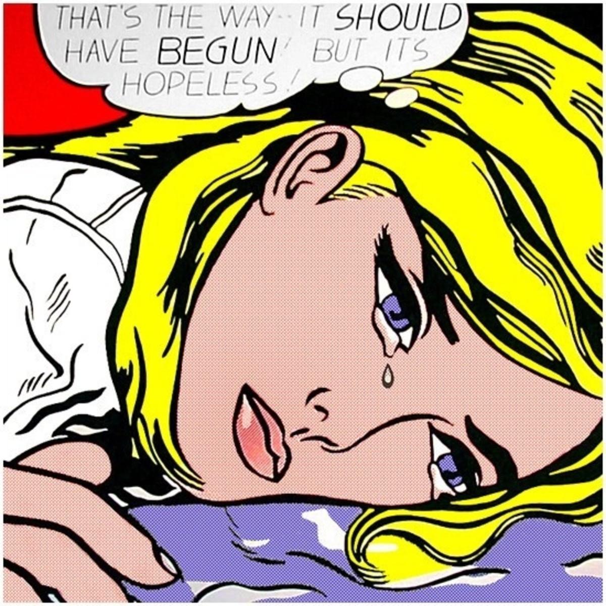 """""""Hopeless"""" by Roy Lichtenstein"""