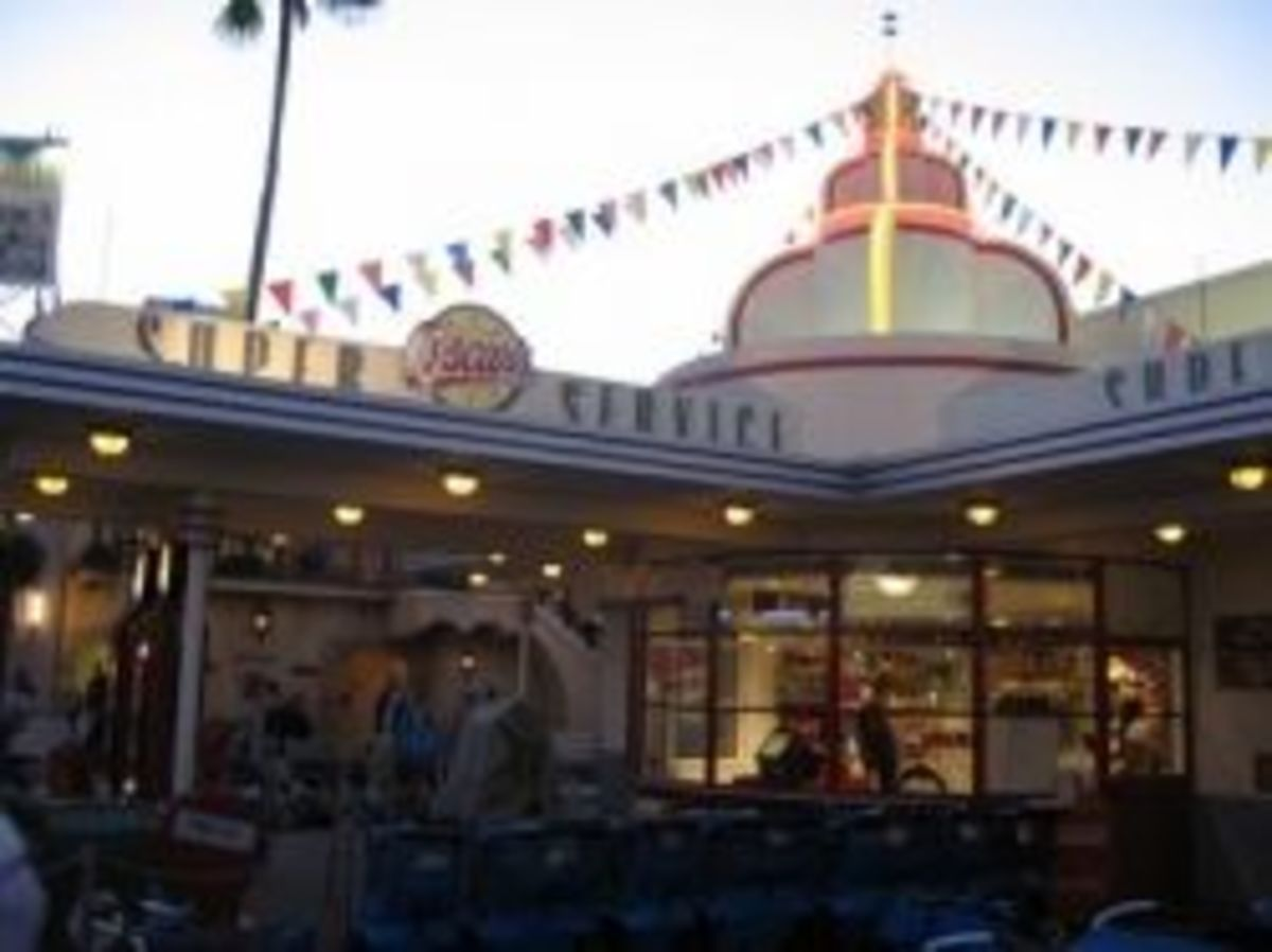 Disney Hollywood Studios Gas Station and ECV/Wheelchair Rental from WDWMemories.com