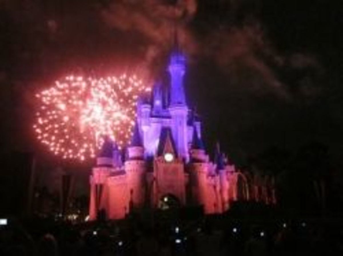 Castle Wishes Fireworks by WDWMemories.com