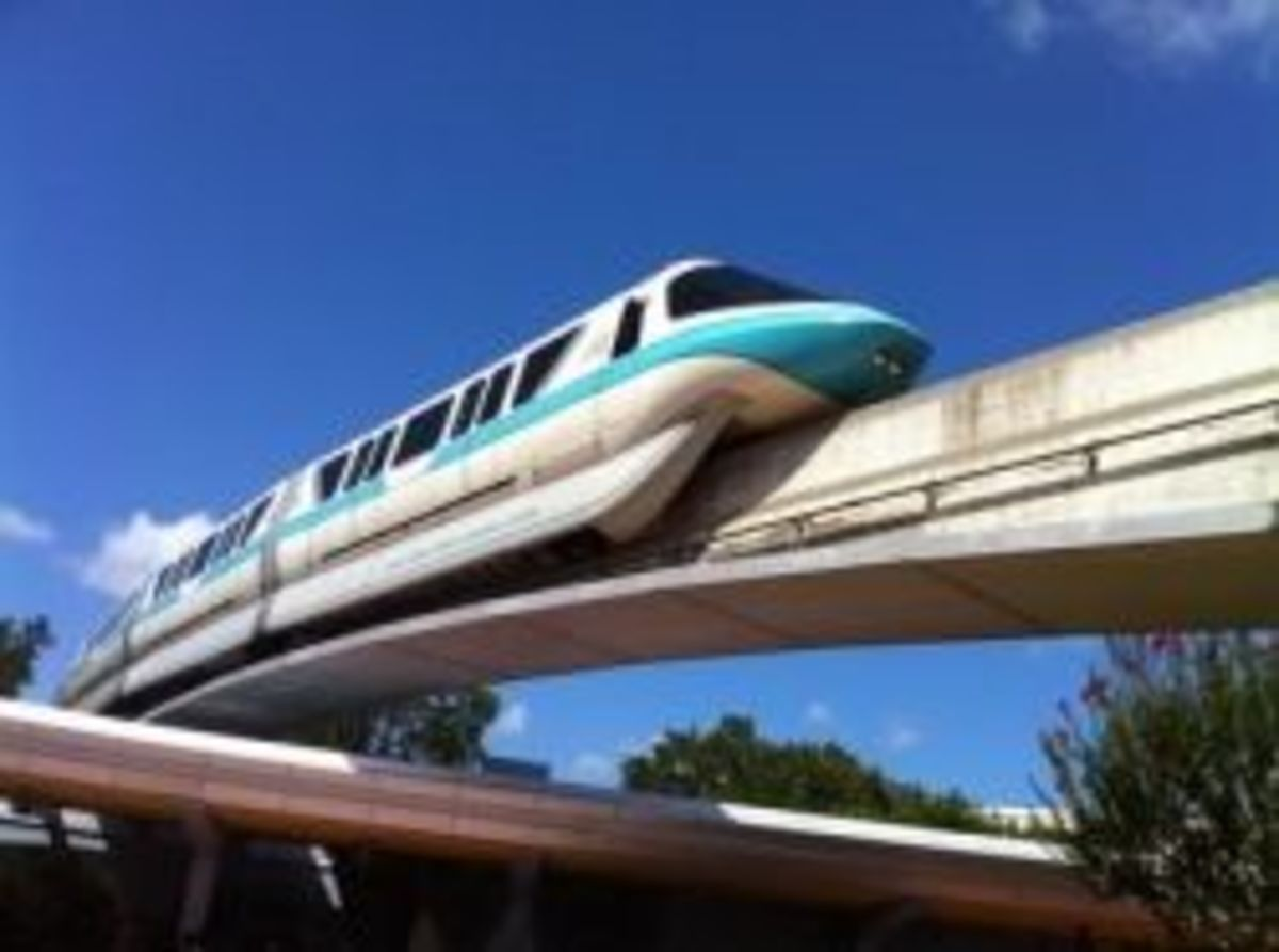 Monorail at EPCOT by WDWMemories.com