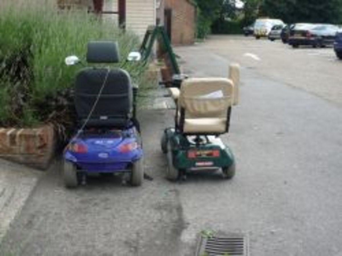 """Mobility Scooters by Flickr User """"Ambernectar 13"""""""
