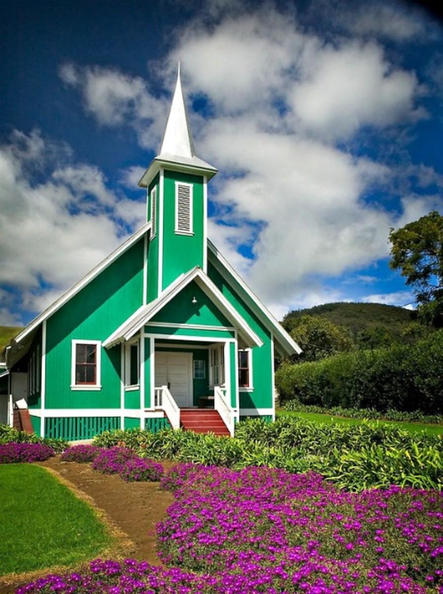 Ke Ola Mau Loa Church, Waimea, Island Of Hawaii