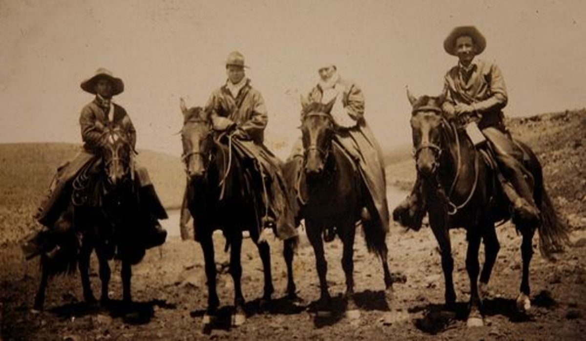 Vintage Paniolo Photo at Parker Ranch from 1940