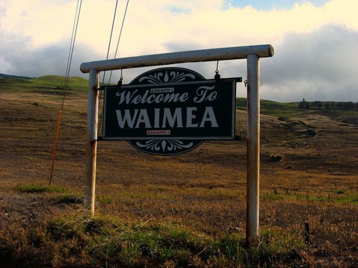 Welcome to Waimea Sign