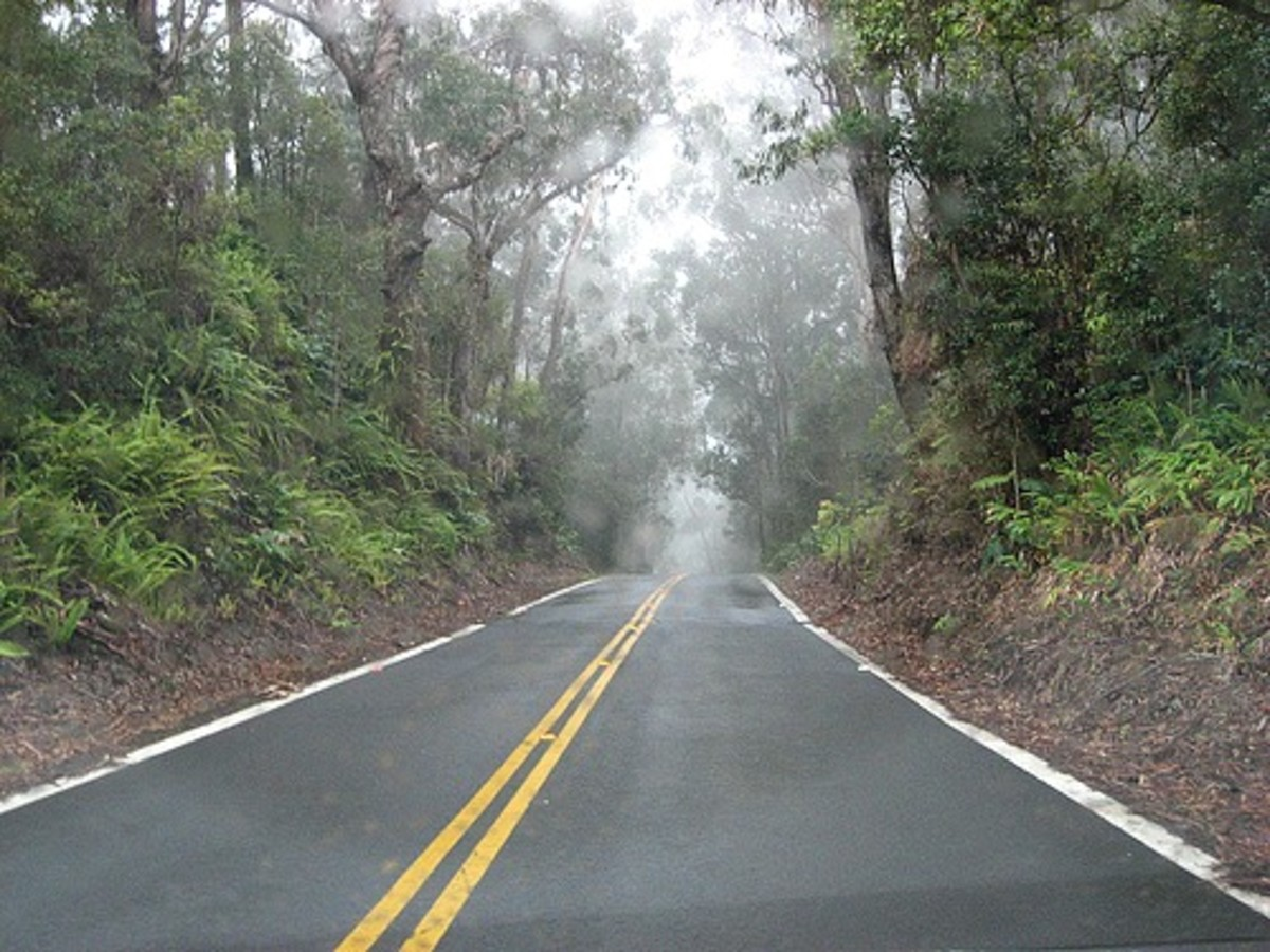 Old Mamalahoa Highway in Waimea