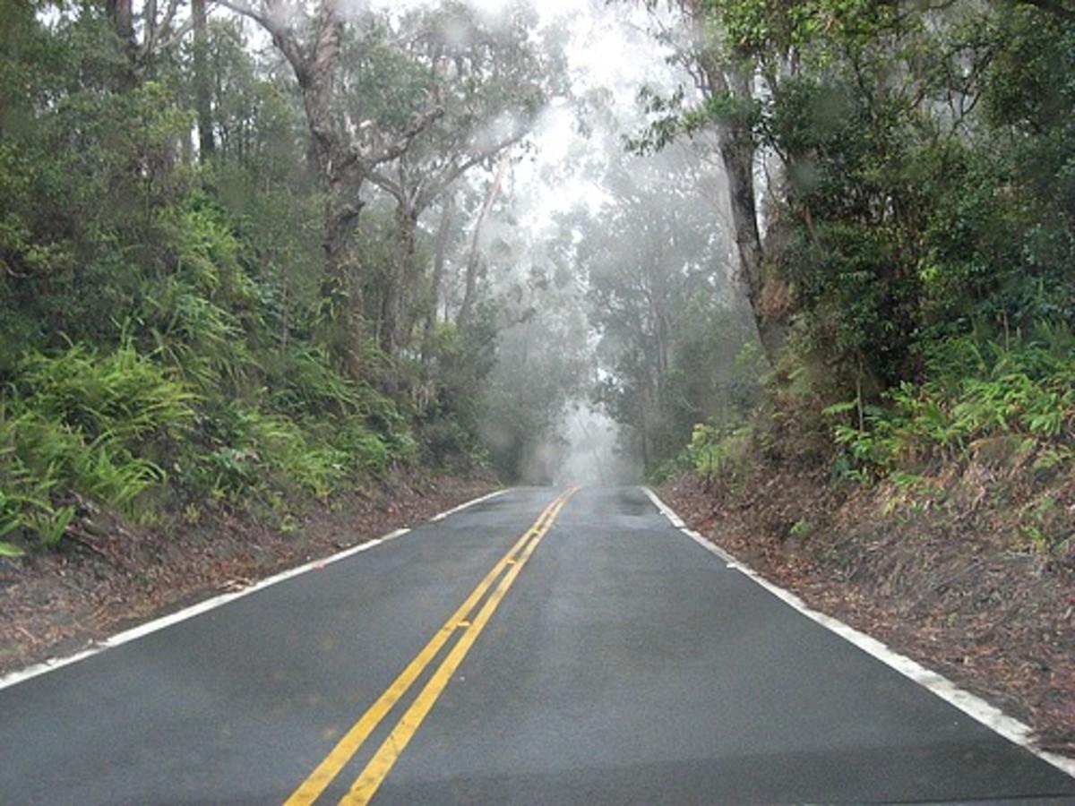 Old Mamalahoa Highway in Waimea