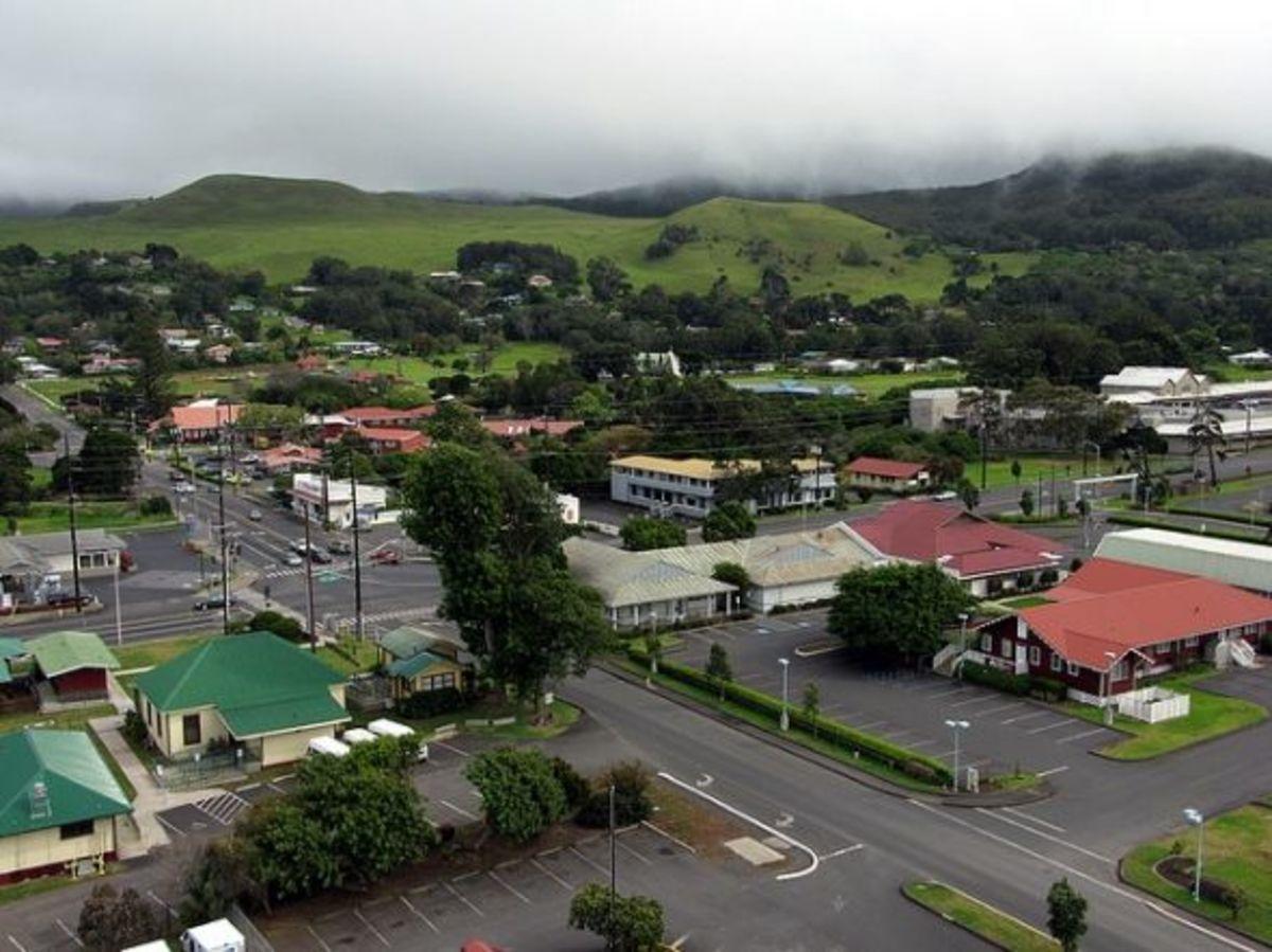 Aerial View of Kamuela Town