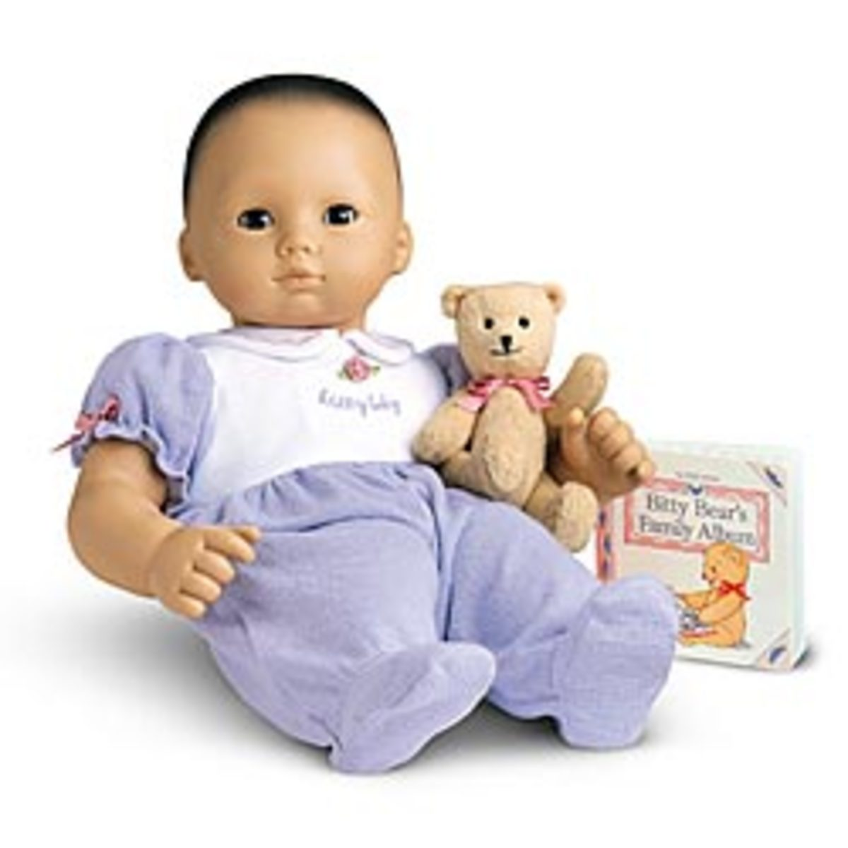 Baby American Girl Doll - Black hair and asian eyes