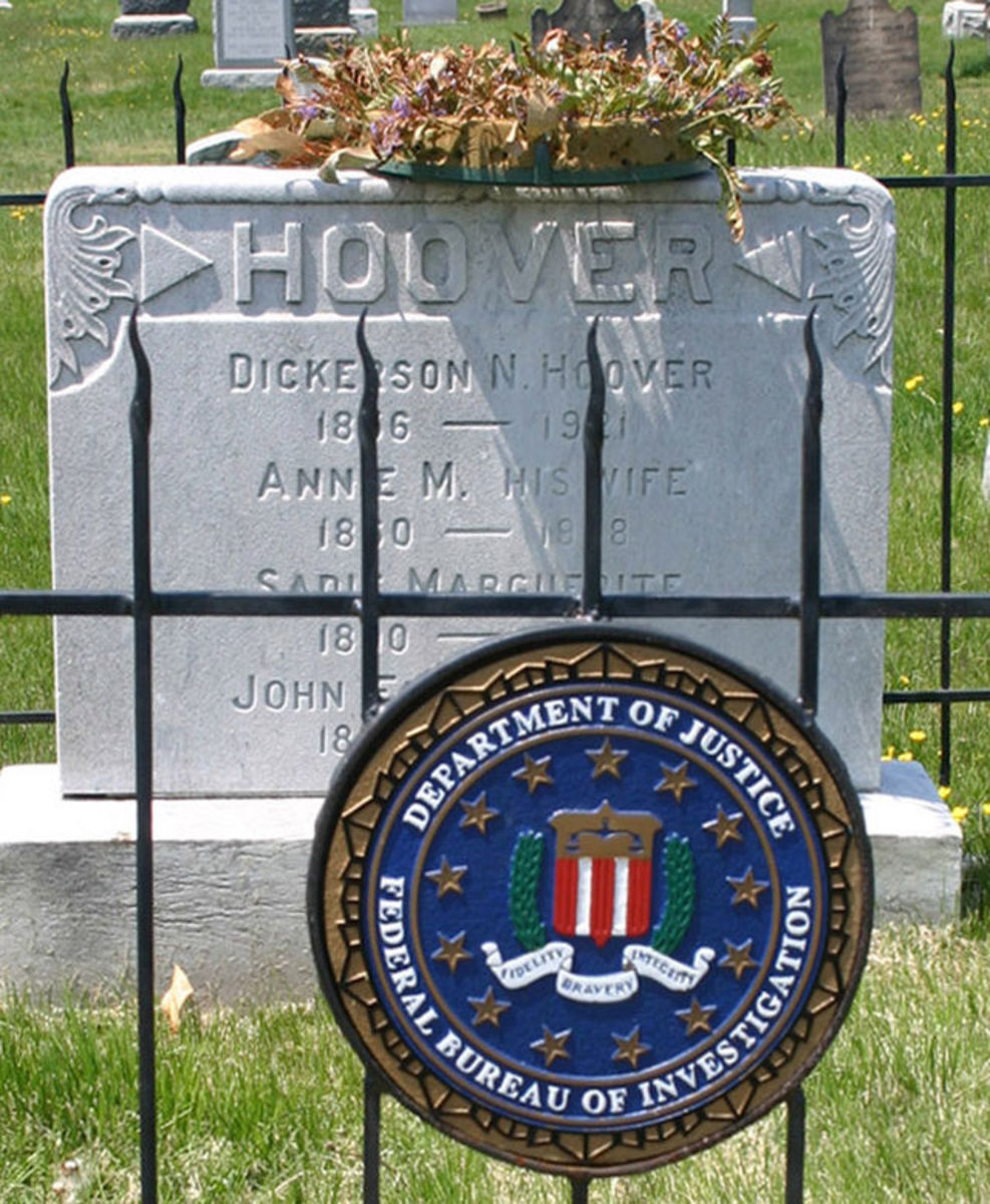 Gravesite of J. Edgar Hoover, former Director of the FBI