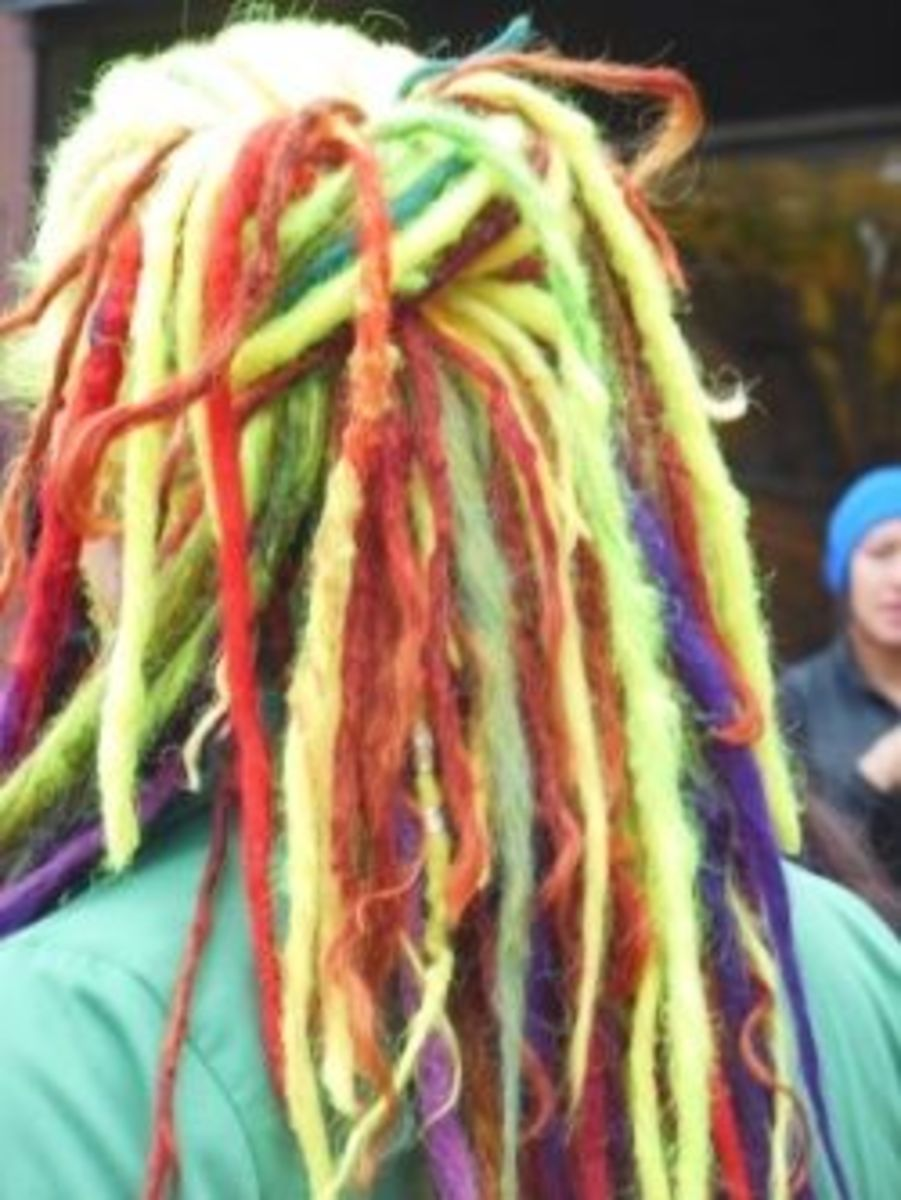 multicolor dreads