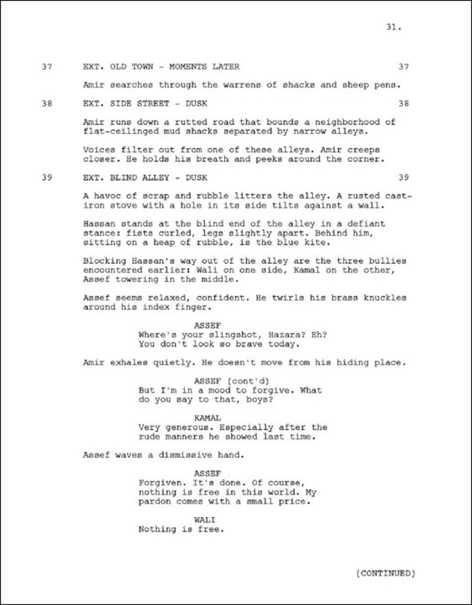 A Sample Screenplay Page