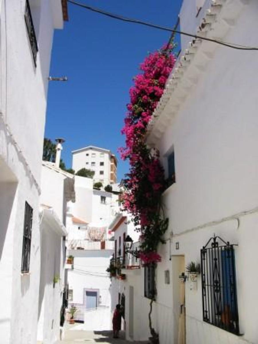 Torrox Pueblo is full of winding, narrow streets