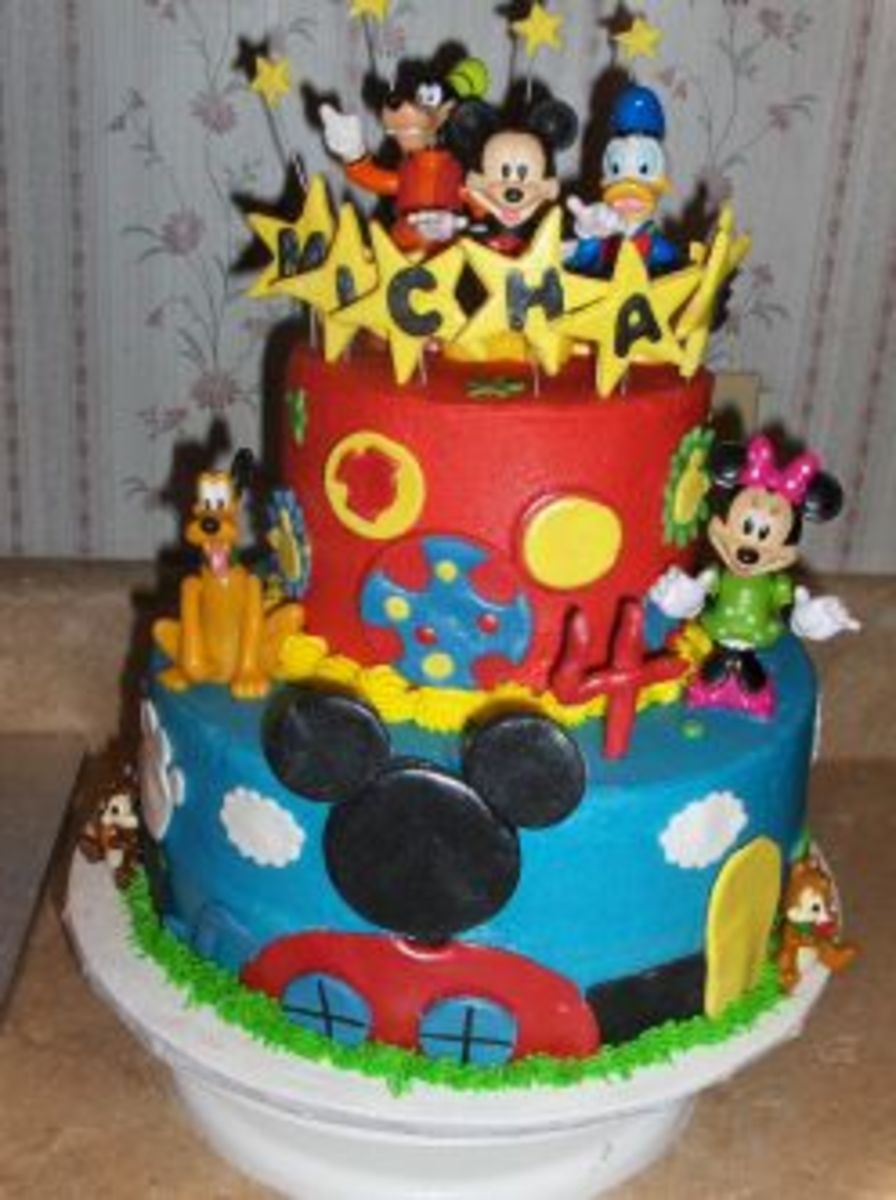 Mickey Mouse Clubhouse Tiered Birthday Cake