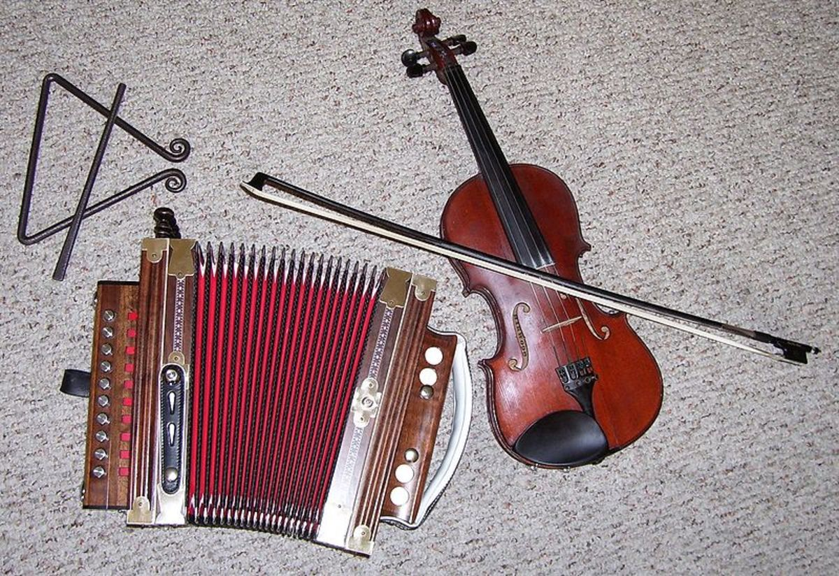Typical instruments in a Cajun band