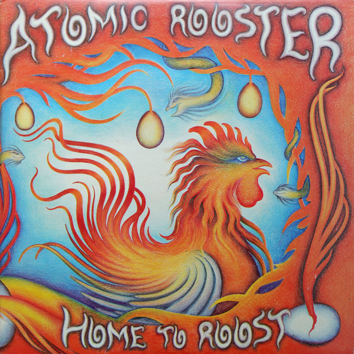 "Atomic Rooster ""Home To Roost"" Mooncrest Records CRD 2 12"" LP Vinyl Record UK Presasing (1977)"