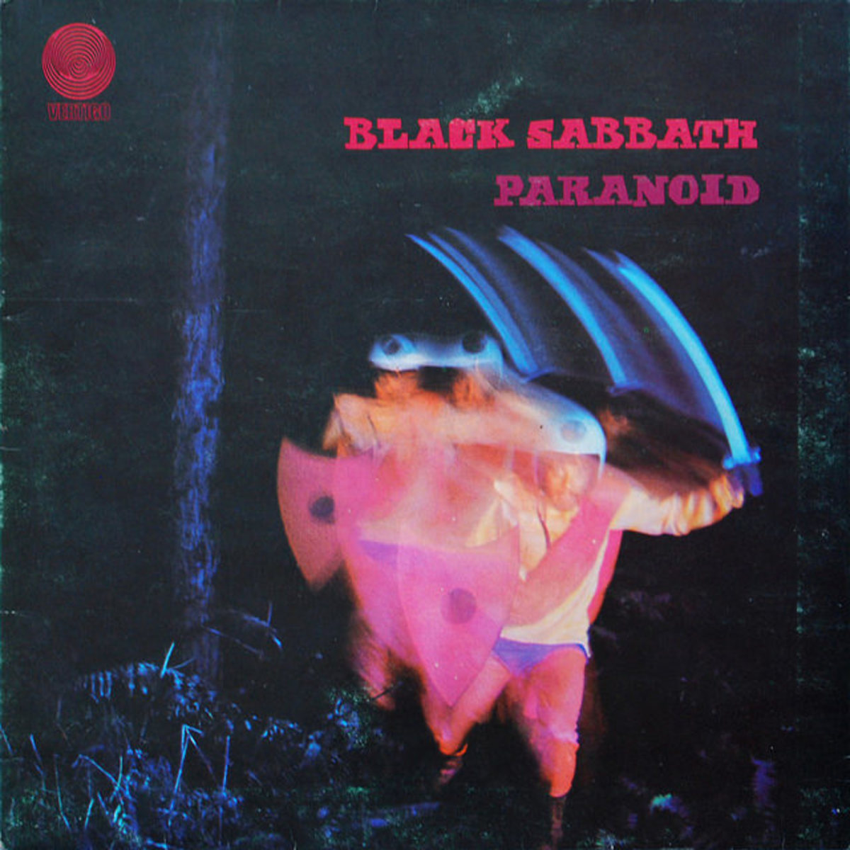 "Black Sabbath ‎""Paranoid"" Vertigo Records 6360 011 12"" Lp Vinyl Record, UK Pressing (1970) Gatefold Album Cover"