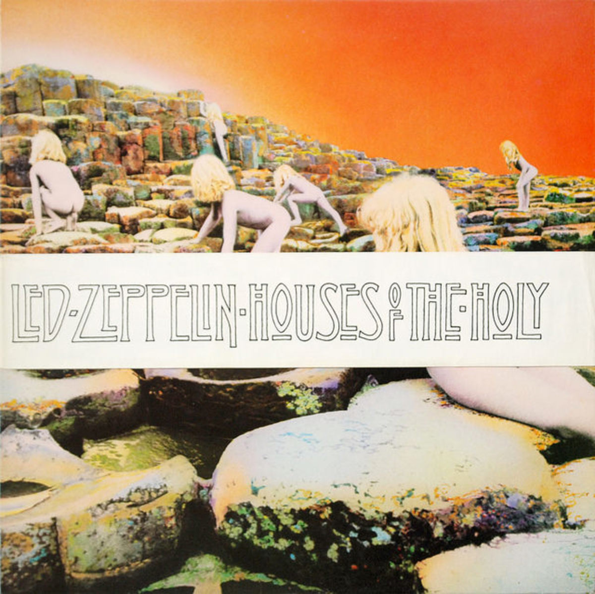 "Led Zeppelin ""Houses Of The Holy"" Atlantic Records K50014 12"" LP UK Pressing (1973) Album Cover Art by Hipgnosis"